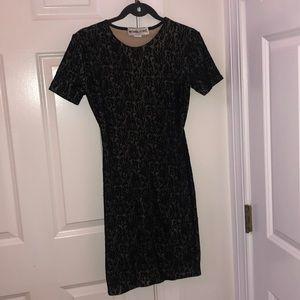 Michael Kors black lace short sleeve dress